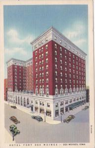 Iowa Des Moines Hotel Fort Des Moines 1939 Curteich