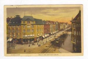 Shops & Trollies / Blick in die Graf Adolf Strave,Dusseldorf,Germany 1900-10s