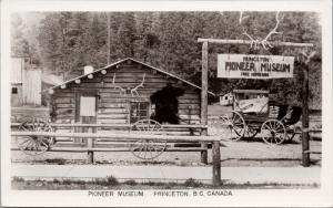 Pioneer Museum Princeton BC Unused Vintage Real Photo Postcard E36