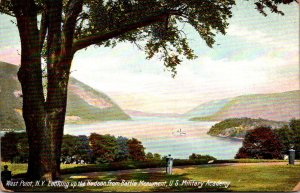 New York West Point U S Military Academy View Up The Hudson From Battle Monument
