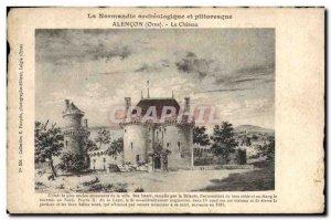Old Postcard Alencon Chateau