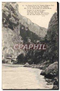 Old Postcard The Grand Canyon du Verdon Var and Alpes Bel Narrow Pas de l'Est...