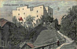 GMUND KARNTEN AUSTRIA~ALTE BURG~1909 BOGENSBERGER KUNSTLER ARTIST POSTCARD