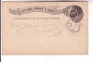 Canadian Postal Stationary, Victoria, 1 Cent Black, St John New Brunswick 189...