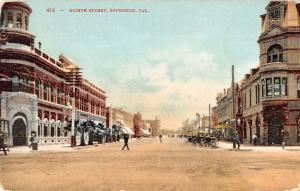 Riverside California Eight Street Scene Historic Bldgs Antique Postcard K35489