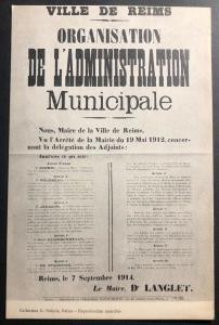 Mint Remis France Journal Postcard WWI  Organization Of The Municipality