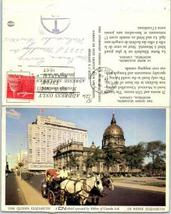 Montreal, Canada Folding Postcard THE QUEEN ELIZABETH HOTEL Street View 1966