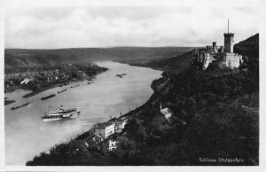 Schloss Stolzenfels River Boats Castle Panorama Postcard