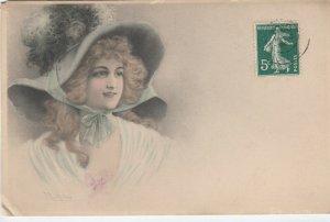 M.M. VIENNE : Female Head Portrait , 1909 ; Wichera ; #2