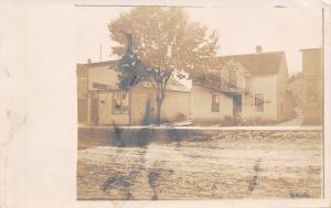 Kirkman Iowa~CH's House Next Door to Store~1907 Real Photo Postcard RPPC