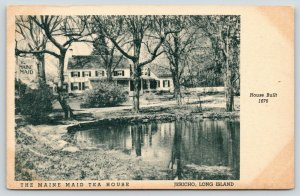 Jericho Long Island New York~Maine Maid Tea House~View Across Pond~c1910