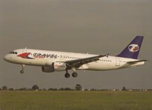 Travel Service, Airbus A320, unused Postcard