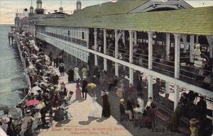 Steel Pier Crowds Watching Bathers Atlantic City New Jersey 1910