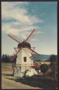 Danish Windmill,Solvang,CA Postcard BIN