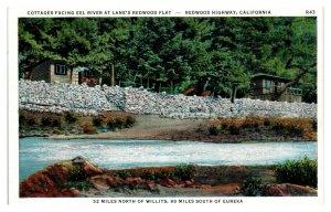 Cottages on Eel River, Lane's Redwood Flat, Redwood Highway CA Postcard *5N(3)20