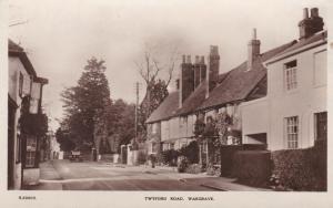 Old Real Photo PostcardTwyford Road Wargrave - WHS Bridge House Seies