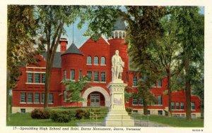 VT - Barre. Spaulding High School and Robert Burns Monument
