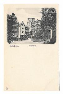Germany Heidelberg Schlosshof Ruined Castle Vintage L. Klement Postcard