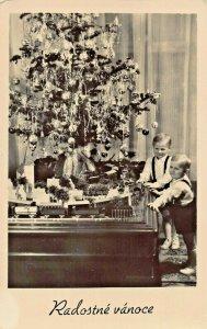 RADOSTNE VANOCE-MERRY CHRISTMAS-1950s CZECH REPUBLIC PHOTO POSTCARD