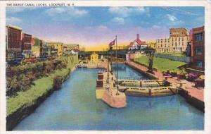 New York Lockport The Barge Canal Locks 1940