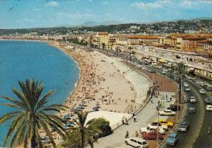 France Nice Vue generale le Quai des Etats-Unis et la plage des Ponchettes 1975
