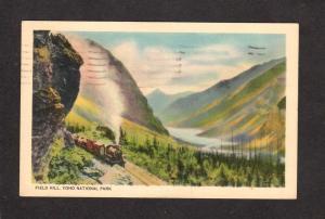 BC Yoho National Park Railroad Train Engine Steam Canada British Columbia PC