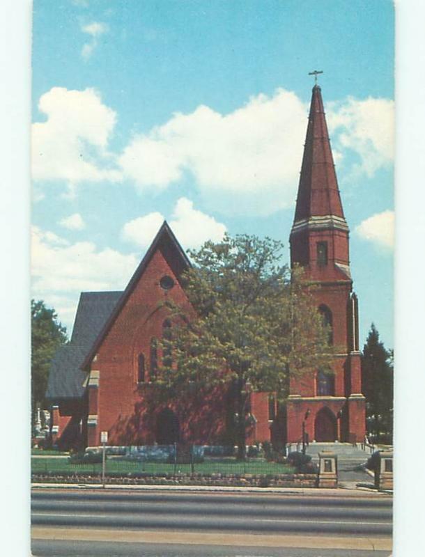 Pre-1980 CHURCH SCENE Greenville South Carolina SC W5342