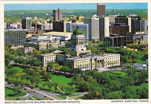 Canada Legislative Building and Downtown Winnipeg Manitoba