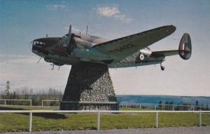 The Aircraft mounted on the memorial is an actual Hudson Bomber,  Gander,  Ne...