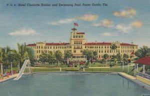 PUNTA GORDA , Florida , 1930-40s ; Hotel Charlotte Harbor & Swimming pool