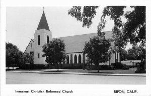Ripon California Immanuel Christian Reformed Church 1950s Photo Postcard 21-5968