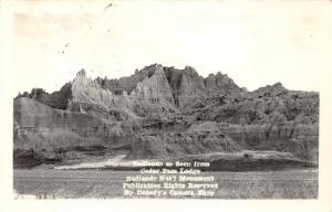 Badlands National Monument South Dakota (from Cedar Pass Lodge)~1950s RPPC