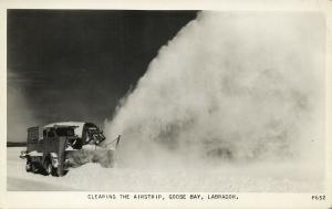 canada, LABRADOR, Goose Bay, Clearing the Airstrip (1950s) RPPC Postcard