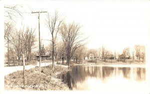 LPM53 Bangor Mill Pond Michigan RPPC Postcard