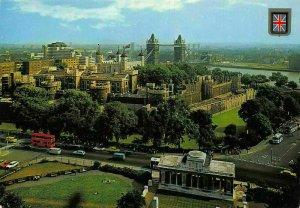 London Tower of London and Tower Bridge Panorama Postcard