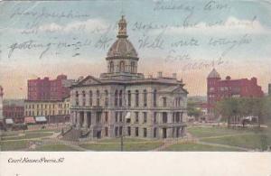Illinois Peoria Court House 1907