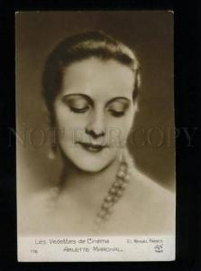 135214 Arlette MARCHAL French MOVIE Star Vintage PHOTO MANUEL
