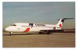 Columbia  Air DC-9-32 Vintage Postcard