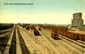 Canada - Manitoba, Winnipeg. CPR Rail Yards