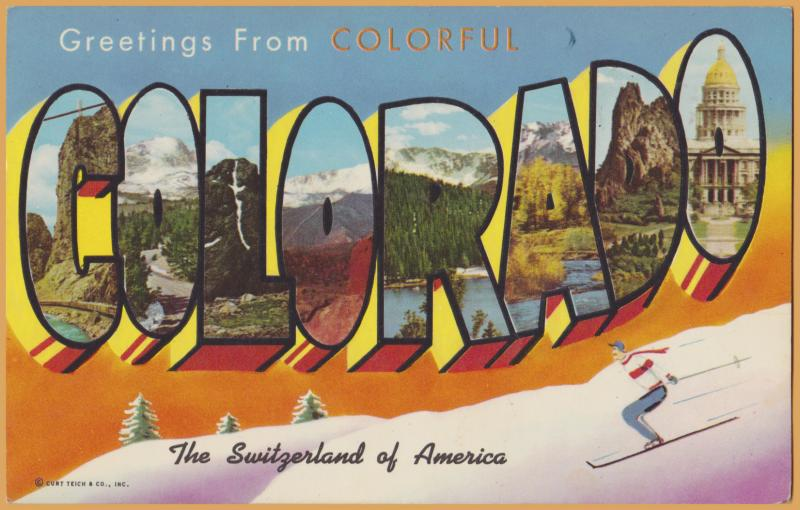 Big Letter-Greetings from Colorado, Switzerland of America - 1967