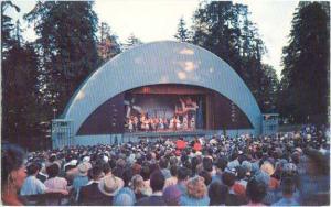 Malkin Bowl, Stanley Park, Vancouver, British Columbia, BC, Pre-zip code Chrome
