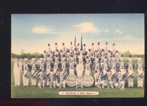 VICKSBURG MISSISSIPPI GAS STATION LINEN ADVERTISING POSTCARD CIVIL WAR BAND