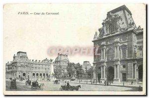 Old Postcard Paris Court of Carousel