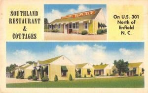 Enfield North Carolina Southland Restaurant & Cottages antique pc ZA440401