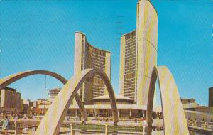 City Hall, Nathan Phillips Square, Toronto, Ontario, Canada, PU-1966