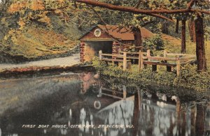 LPN11 Bridgeton New Jersey Postcard City Park First Boat House