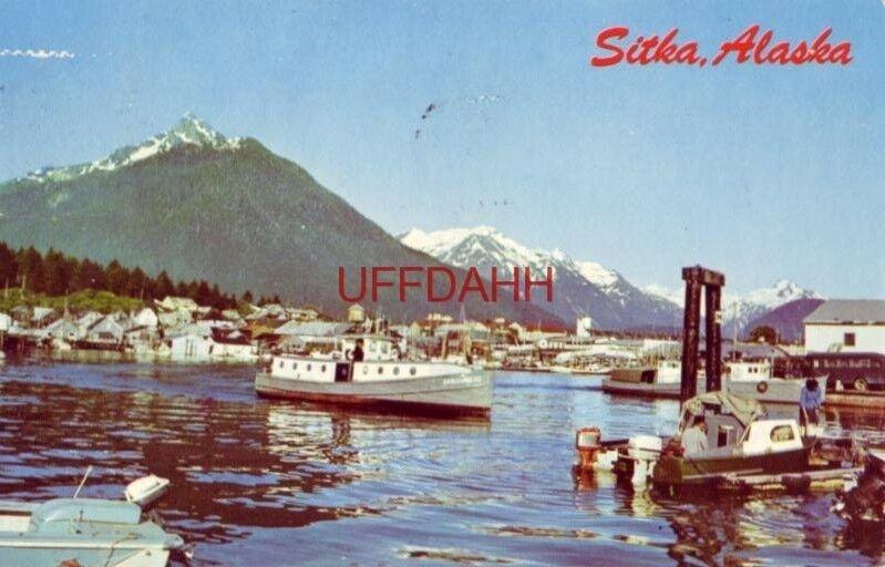 1970 FERRY CROSSING BETWEEN SITKA AND EDGECOMB ISLAND, ALASKA