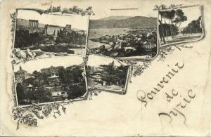 lebanon, BEIRUT BEYROUTH, Place des Canons, Panorama, Baalbek (1923)