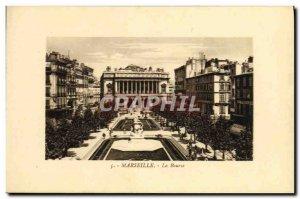 Old Postcard Marseille Bourse