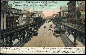 New York, Bowery, North from Grand Street, TRAM (1907)